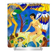 Feral Angels Shower Curtain
