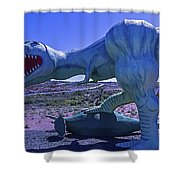 Ferious Dinosaur Trex Shower Curtain