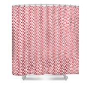 Fermat Spiral Pattern Effect Pattern Red Shower Curtain