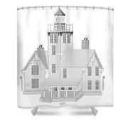 Fermin Model Architectural Drawing Shower Curtain