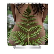 Fern And Woman Shower Curtain