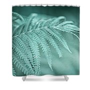 Fern Leaves Abstract 1. Nature In Alien Skin Shower Curtain