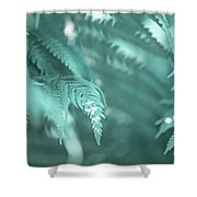 Fern Leaves Abstract 4. Nature In Alien Skin Shower Curtain