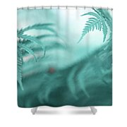 Fern Leaves Abstract. Nature In Alien Skin Shower Curtain
