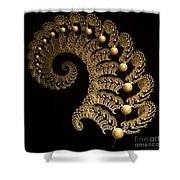 Fern-spiral-fern Shower Curtain
