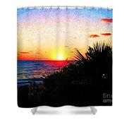 Fernandez Bay Sunset Shower Curtain