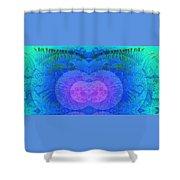Ferns 2j Hotwax 3 Mirror Shower Curtain