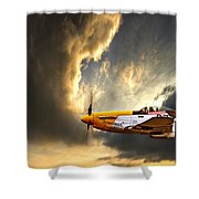 Ferocious Frankie Shower Curtain by Meirion Matthias