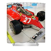 Ferrari 126ck Front Right Museo Ferrari Shower Curtain