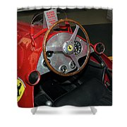 Ferrari 166 F2 Cockpit Museo Ferrari Shower Curtain