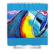 Ferrari 23b Abstract Shower Curtain