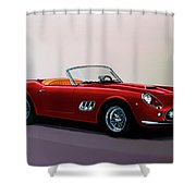 Ferrari 250 Gt California Spyder 1957 Painting Shower Curtain