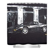 Ferrari 348 Gtr Testarrossa Shower Curtain