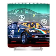 Ferrari 365 Gtc4 Shower Curtain