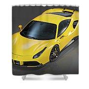 Ferrari 488 Shower Curtain