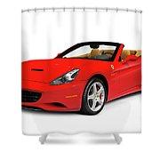 Ferrari California Shower Curtain