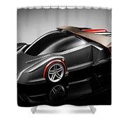 Ferrari Concept Black Shower Curtain