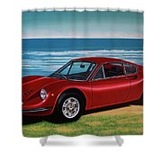Ferrari Dino 246 Gt 1969 Painting Shower Curtain