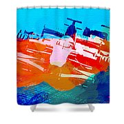 Ferrari F1 Racing Shower Curtain by Naxart Studio