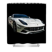Ferrari F12 Berlinetta In White Shower Curtain