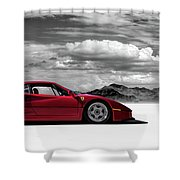 Ferrari F40 Shower Curtain by Douglas Pittman