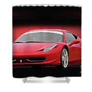Ferrari F458 'iconic Italian Sports Car' Shower Curtain