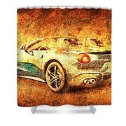 Ferrari F60 America, Golden Poster, Birthday Gift For Men Shower Curtain
