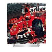 Ferrari - Michael Schumacher  Shower Curtain