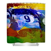 Ferrari Testarossa Watercolor Shower Curtain by Naxart Studio