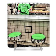 Ferrell's Cheeseburgers For Two Shower Curtain