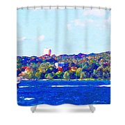 Ferries In The Harbor Shower Curtain