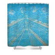 Ferris Sketch Shower Curtain