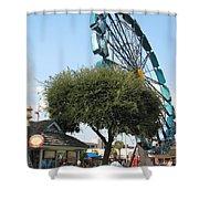 Ferris Upside Down Shower Curtain