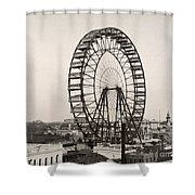 Ferris Wheel, 1893 Shower Curtain