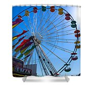Ferris Wheel 6 Shower Curtain