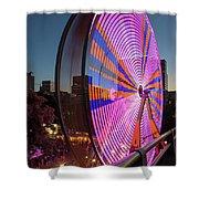 Ferris Wheel At Fun Fair In Downtown Portland Oregon Shower Curtain