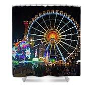 Ferris Wheel At Night Shower Curtain