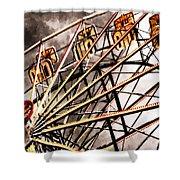 Ferris Wheel At Sunset Shower Curtain