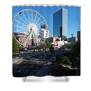 Ferris Wheel Atl Shower Curtain