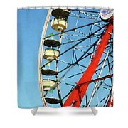 Ferris Wheel Closeup Shower Curtain
