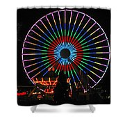 Ferris Wheel In Wildwood New Jersey Shower Curtain