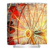 Ferris Wheel Jazz Shower Curtain
