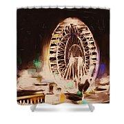 Ferris Wheels Tower 536 2 Shower Curtain