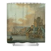 Ferry Across A River Shower Curtain