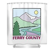 Ferry County II Shower Curtain by Sarah Lawrence