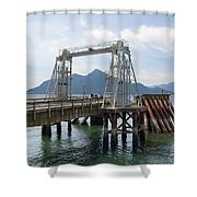 Ferry Dock And Pier At Porteau Cove Shower Curtain