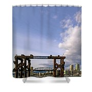 Ferry Dock At Granville Island In British Columbia Shower Curtain