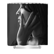 Ferry Girl Shower Curtain