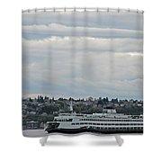 Ferry In Seattle Washington Shower Curtain