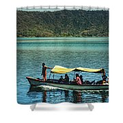 Ferry - Lago De Coatepeque - El Salvador I Shower Curtain